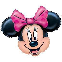 Palloncino Super Shape Minnie Fiocco Rosa