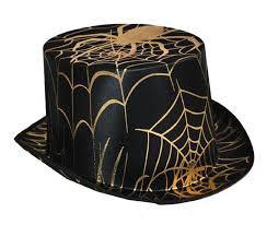 Cappello ragnatele oro e nero