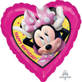 "Palloncino 18"" mylar Minnie Helpers Happy Birthday"