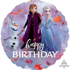 "Palloncino 18"" mylar Happy Birthday ""Frozen II"""