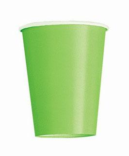 Bicchieri carta verdi