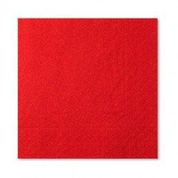 Tovaglioli rossi 100 pezzi
