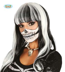 Parrucca bianco e nera