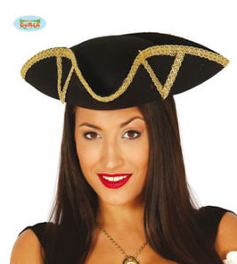 Cappello piratessa bordo oro