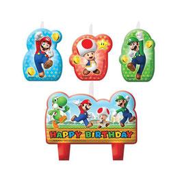 Candelina Happy Birthday Super Mario Bros 4pz