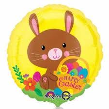 Palloncino tondo Pasqua coniglio marrone