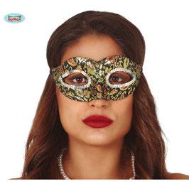 Maschera stoffa ricamata