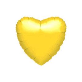 Palloncino cuore foil giallo