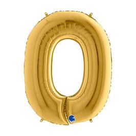 Palloncino Mylar Numero Oro 1 pezzo 102 cm