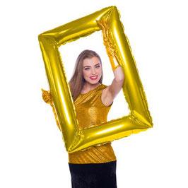 Palloncino Cornice selfie grande Oro