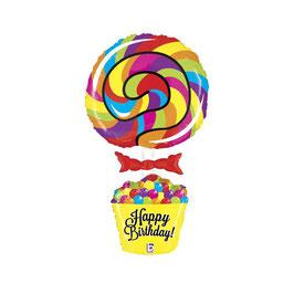"""Palloncino 40"""" Super Shape Lecca-Lecca """"Lollipop Birthday"""""""
