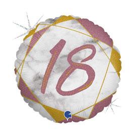 "Palloncino 18"" mylar Marmorizzato N.18"