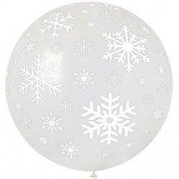 Palloncino XL Lattice Fiocco di Neve 80 cm