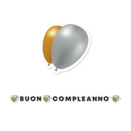 Festone maxi Buon Compleanno Prestige