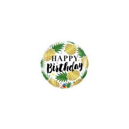 "Palloncino 18"" mylar Happy Birthday Pineapples"
