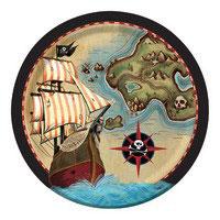 Piatto Grande Pirati 8pz