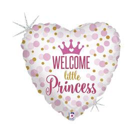 "Palloncino 18"" mylar Nascita ""Welcome Little Prince/Princess"""