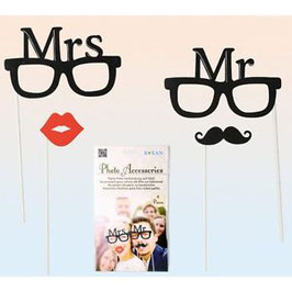Mr & Mrs Party Photo Props