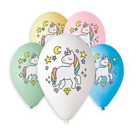 Palloncini Lattice Unicorni 100 pezzi 30 cm