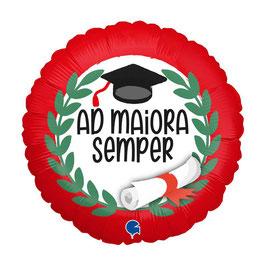 "Palloncino 18"" mylar Laurea ""Ad Maiora Semper"""