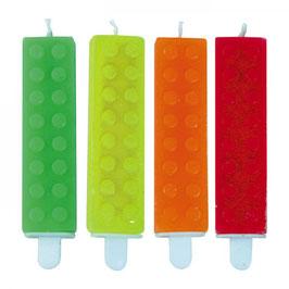 Candele Mattoncini Fluorescenti