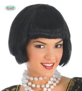 Parrucca caschetto nero