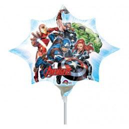 Palloncino Mylar Mini shape Avengers Stella 1 pezzo