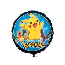 Palloncino pokemon tondo contorno scuro
