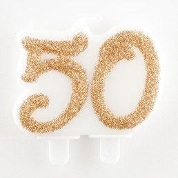 Candela anniversario glitter 50 o 25