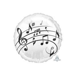 Palloncino mylar note musicali