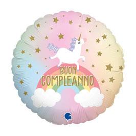 """Palloncino """" Buon Compleanno Unicorno """"Pastel Unicorn"""""""