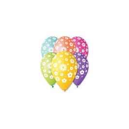 Palloncini Lattice Fiori 100 pezzi 30 cm