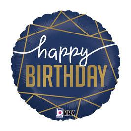 """Palloncino 18"""" mylar Happy Birthday """"Navy Birthday"""""""