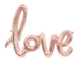 Palloncino con scritta Love Rose-Gold