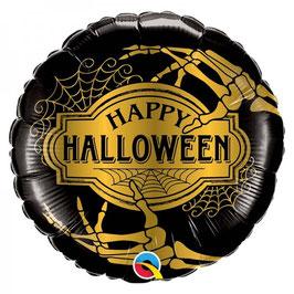 Palloncino happy halloween gold
