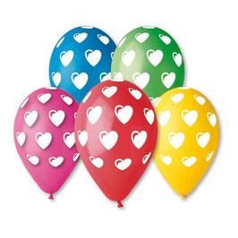 Palloncini Lattice Cuori 100 pezzi 30 cm