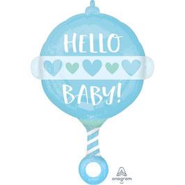 "Palloncino 24"" mylar Sonaglio ""Hello Baby!"""