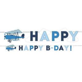 Festone happy birthday aereo