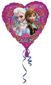 Palloncino Anna e Elsa cuore