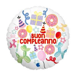 "Palloncino 18"" mylar Happy Birthday ""Candy"""