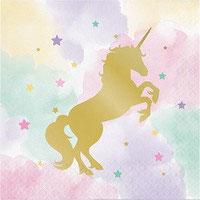 Tovagliolo Unicorno 16 pz