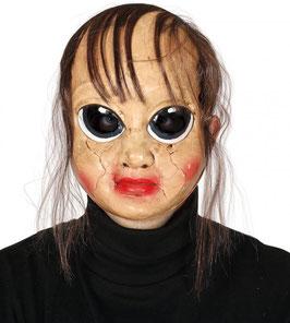 maschera bambola assassina con capelli