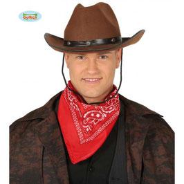 Cappello cowboy marrone chiaro o scuro