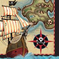 Tovagliolo Pirati 16 pz