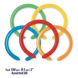Palloncini Lattice Modellabili 100 pezzi 5 cm
