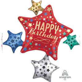 Palloncino multi stelle happy birthday