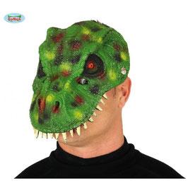 Maschera dinosauro verde