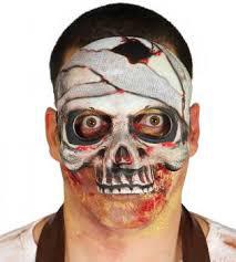 maschera mezzo teschio stoffa