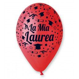 Palloncini Lattice La Mia Laurea 100 pezzi 30 cm