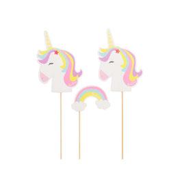 Picks Sagomati Unicorno e Arcobaleno 6 pezzi